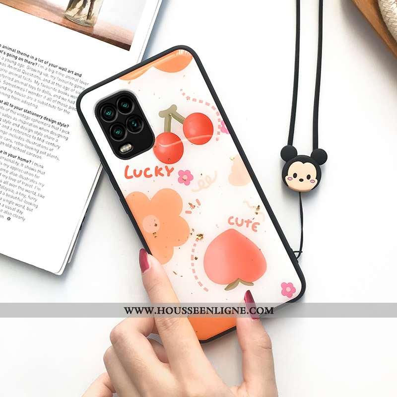 Coque Xiaomi Mi 10 Lite Protection Personnalité Personnalisé Orange Jeunesse Fruit Or