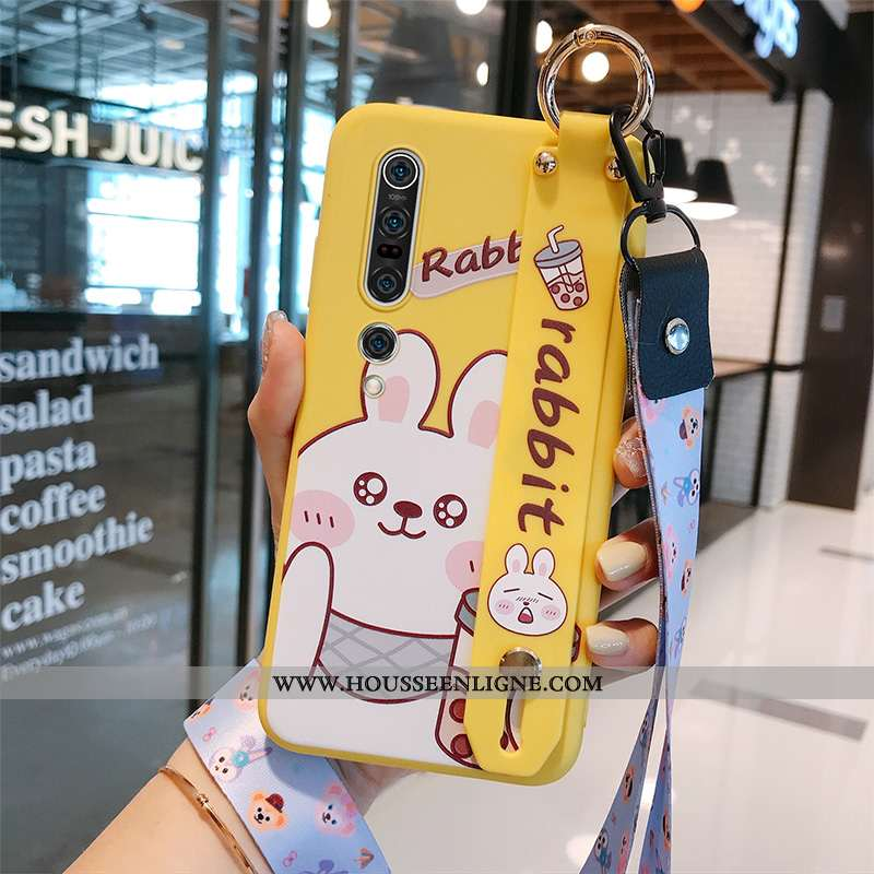 Coque Xiaomi Mi 10 Pro Dessin Animé Tendance Créatif Personnalité Jeunesse Rouge Tout Compris Jaune