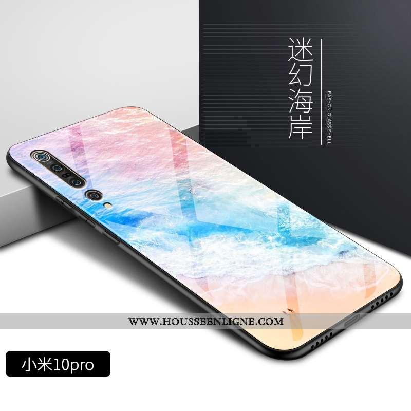Coque Xiaomi Mi 10 Pro Fluide Doux Silicone Légère Protection Dégradé Personnalité Rose