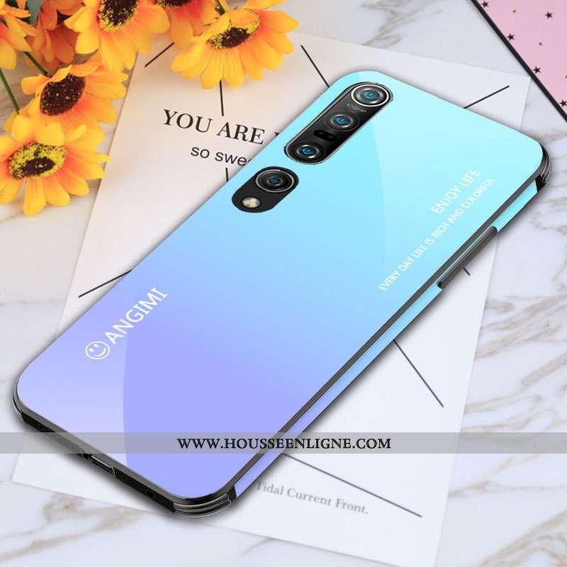 Coque Xiaomi Mi 10 Pro Personnalité Créatif Étui Tendance Téléphone Portable Silicone Bleu