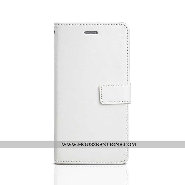 Coque Xiaomi Mi 10 Protection Cuir Fluide Doux Clamshell Étui Nouveau Blanche