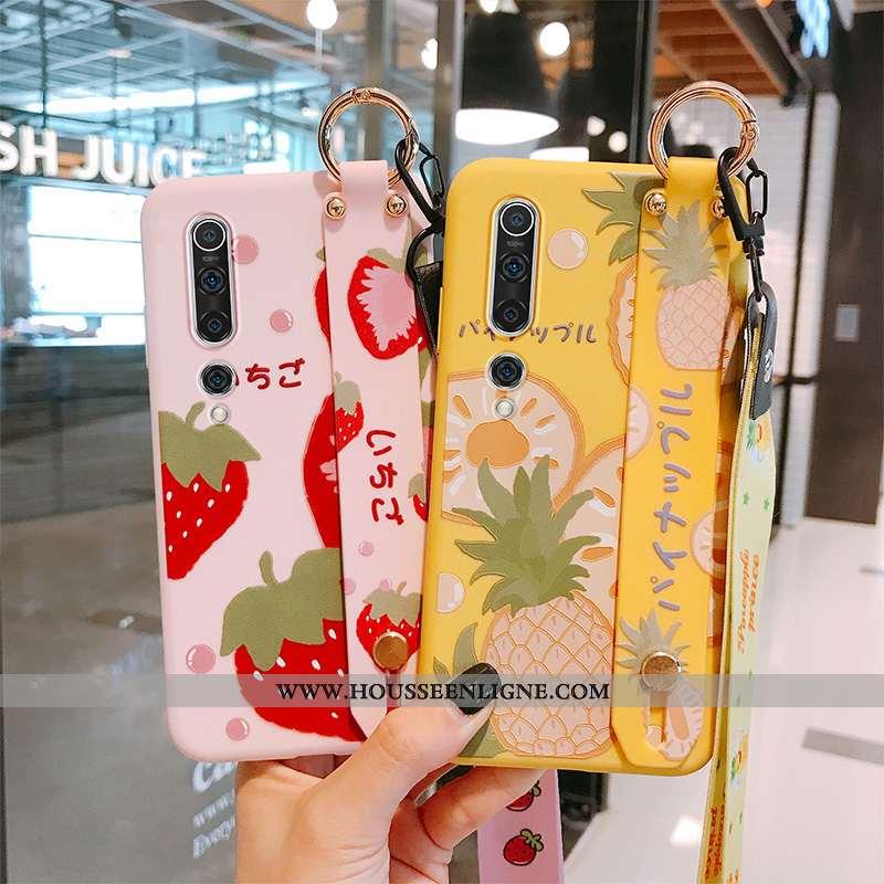 Coque Xiaomi Mi 10 Protection Ornements Suspendus Nouveau Fruit Vent Silicone Incassable Jaune