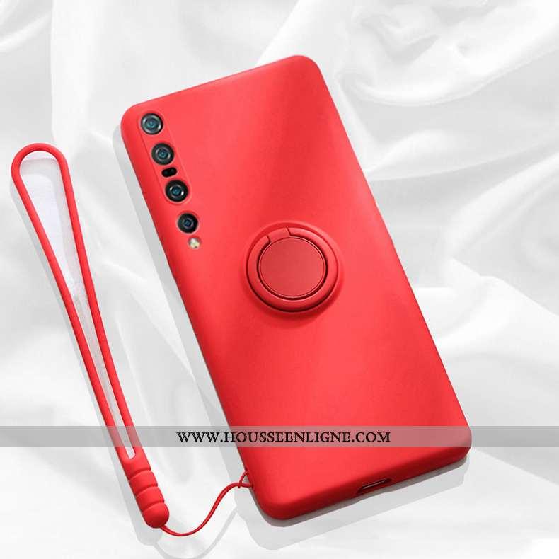 Coque Xiaomi Mi 10 Silicone Ornements Suspendus Étui Légère Support Simple Incassable Rouge