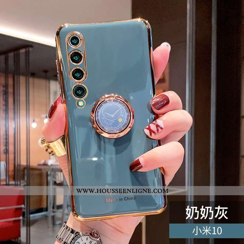 Coque Xiaomi Mi 10 Tendance Fluide Doux Téléphone Portable Petit Protection Incassable Étui Verte