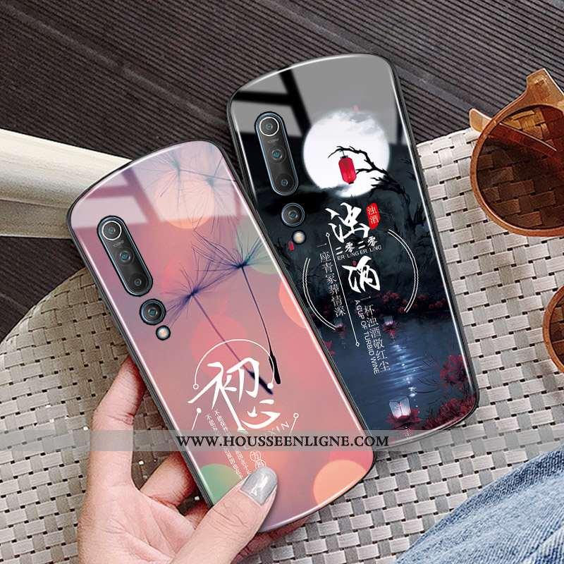 Coque Xiaomi Mi 10 Tendance Protection Incassable Luxe Petit Nouveau Étoile Noir