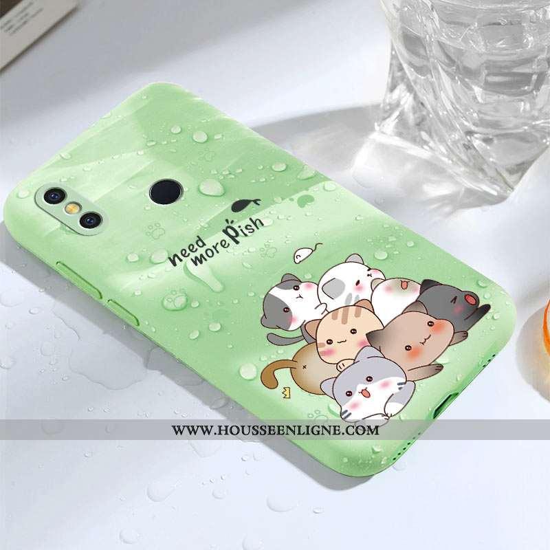 Coque Xiaomi Mi 8 Créatif Dessin Animé Fluide Doux Charmant Net Rouge Téléphone Portable Légère Vert