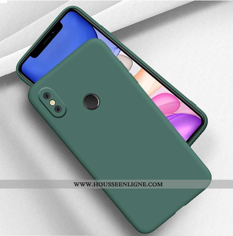 Coque Xiaomi Mi 8 Créatif Tendance Personnalité Vert Légère Silicone Tout Compris Turquoise