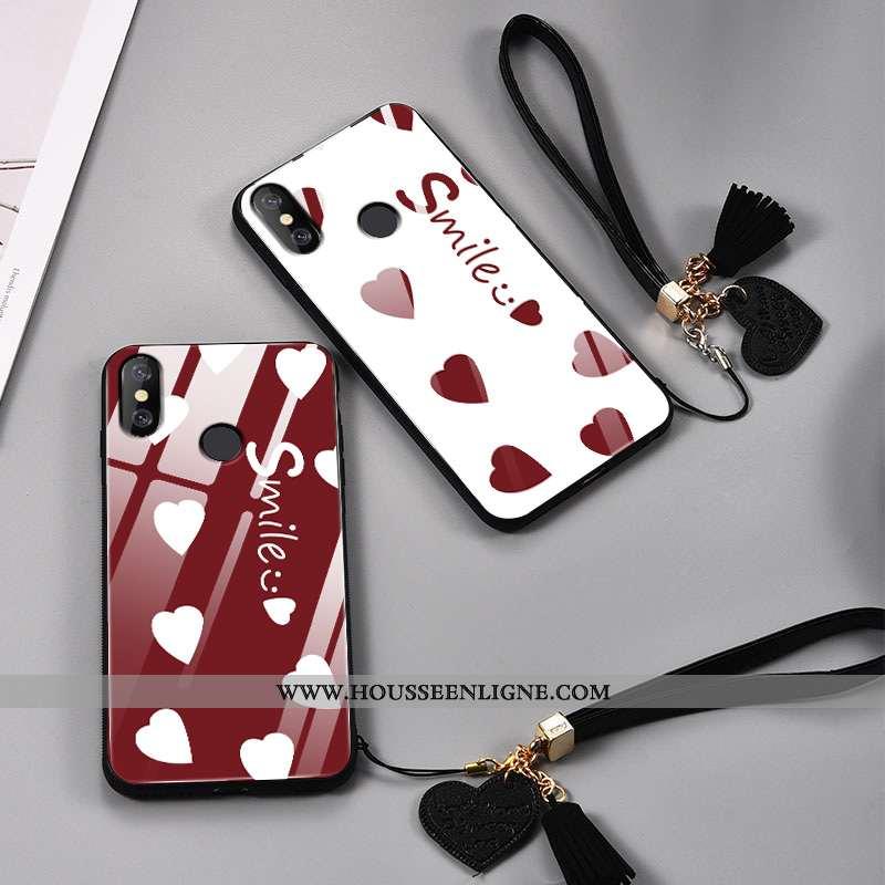 Coque Xiaomi Mi 8 Créatif Ultra Petit Incassable Tendance Amour Verre Rouge