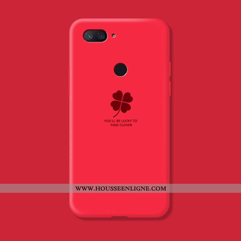 Coque Xiaomi Mi 8 Lite Créatif Silicone Rouge Bleu Petit Incassable