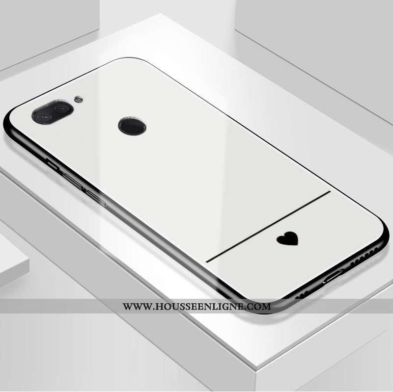 Coque Xiaomi Mi 8 Lite Fluide Doux Protection Art Étui Amour Tout Compris Tempérer Blanche