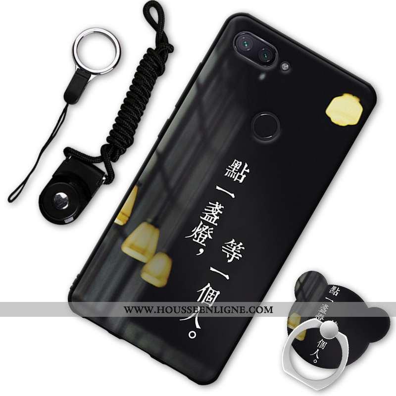 Coque Xiaomi Mi 8 Lite Fluide Doux Protection Téléphone Portable Petit Étui Noir Incassable