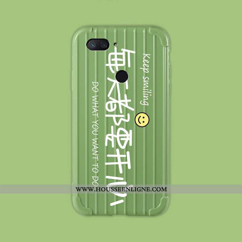 Coque Xiaomi Mi 8 Lite Personnalité Dessin Animé Étui Voyage Fluide Doux Jeunesse Verte