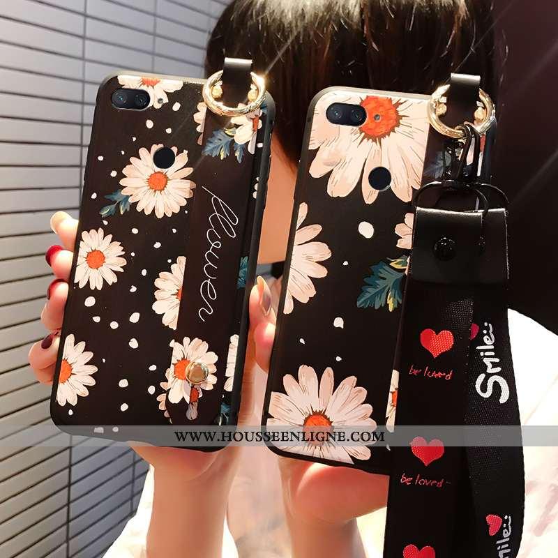 Coque Xiaomi Mi 8 Lite Personnalité Silicone Petit Noir Jeunesse Téléphone Portable