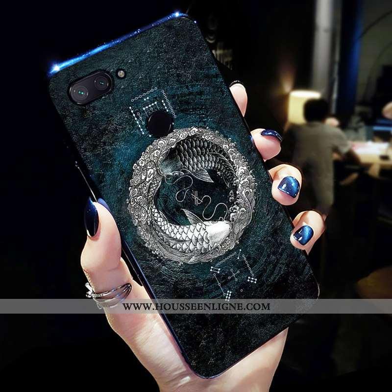 Coque Xiaomi Mi 8 Lite Protection Charmant Jeunesse Étui Téléphone Portable Bleu
