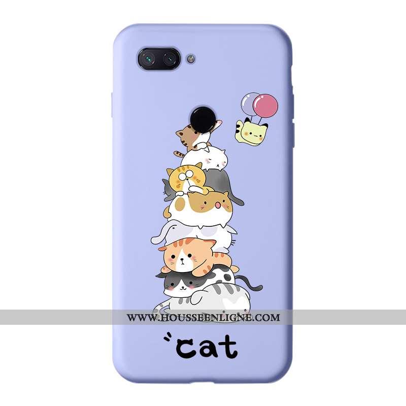 Coque Xiaomi Mi 8 Lite Silicone Protection Petit Jeunesse Téléphone Portable Étui Dessin Animé Viole