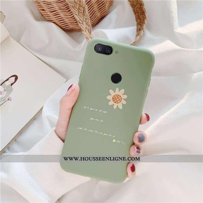 Coque Xiaomi Mi 8 Lite Silicone Protection Petit Simple Jeunesse Fluide Doux Turquoise