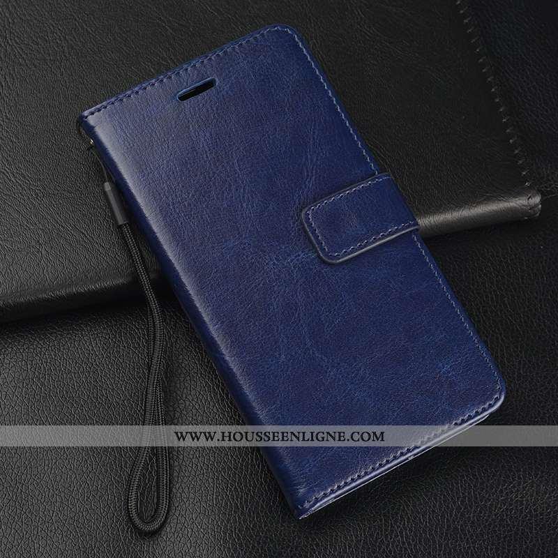 Coque Xiaomi Mi 8 Pro Modèle Fleurie Fluide Doux Membrane Protection Incassable Étui Bleu Foncé