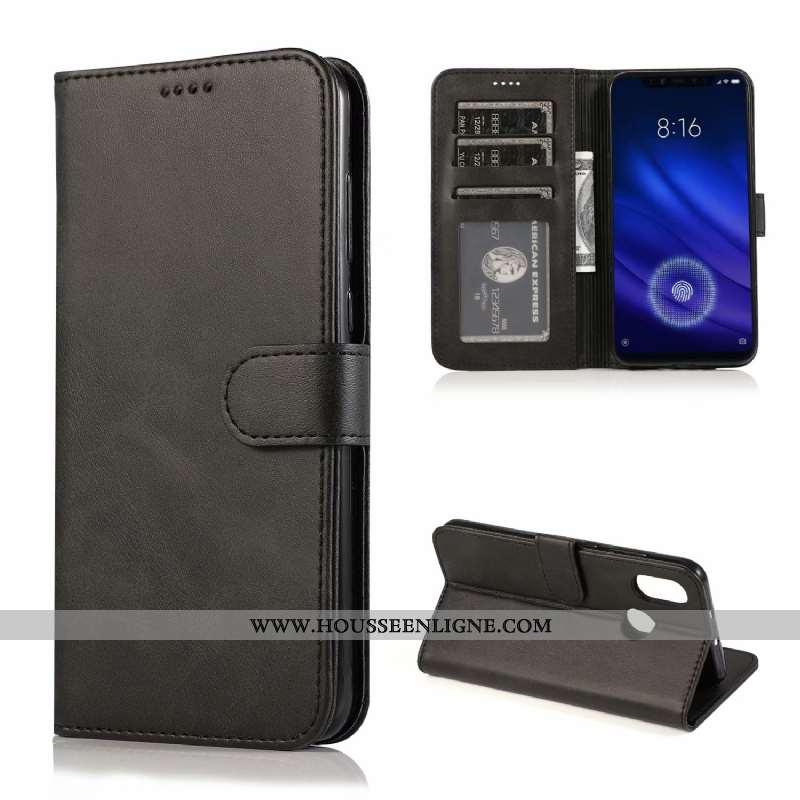 Coque Xiaomi Mi 8 Protection Ultra Téléphone Portable Simple Clamshell Petit Silicone Noir