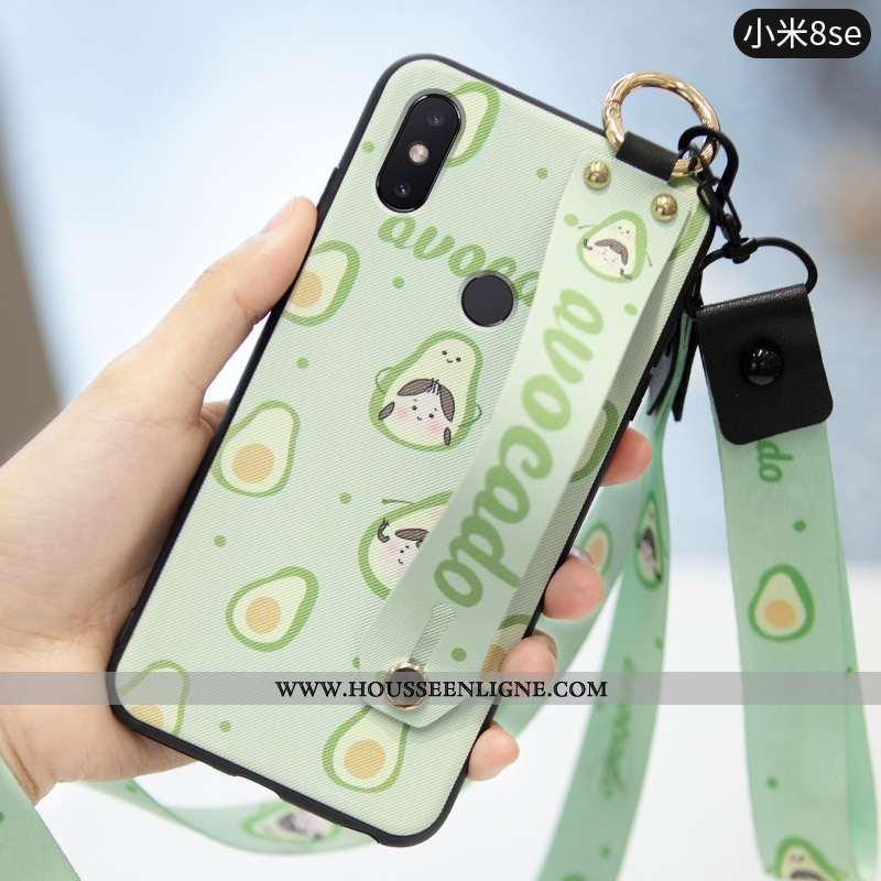 Coque Xiaomi Mi 8 Silicone Protection Téléphone Portable Fruit Fraise Incassable Cœur Verte
