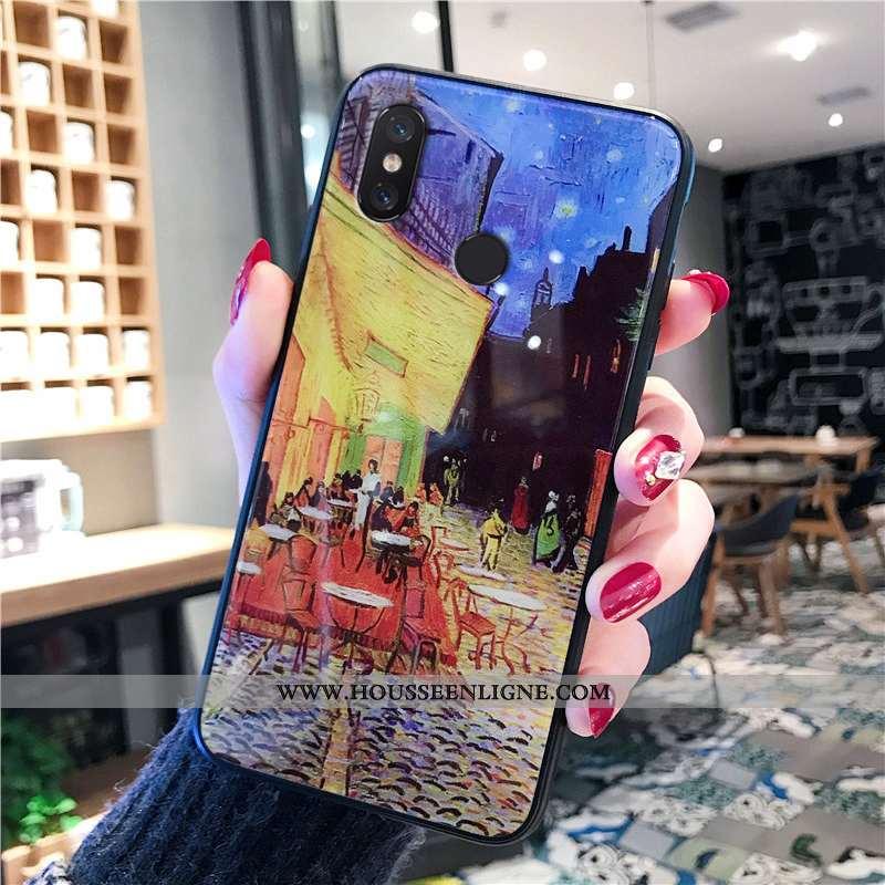 Coque Xiaomi Mi 8 Tendance Fluide Doux Protection Téléphone Portable Jaune Verre