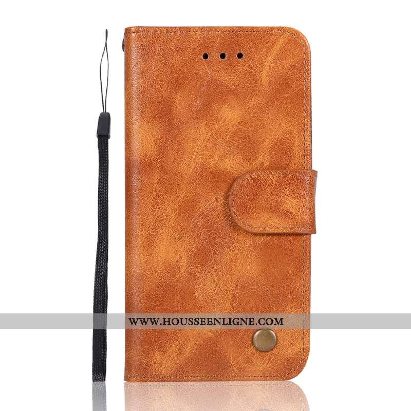 Coque Xiaomi Mi 9 Lite Cuir Modèle Fleurie Support Portefeuille Petit Téléphone Portable Marron