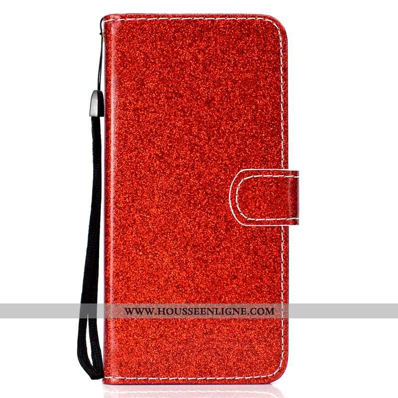 Coque Xiaomi Mi 9 Lite Protection Cuir Fluide Doux Incassable Silicone Téléphone Portable Rouge
