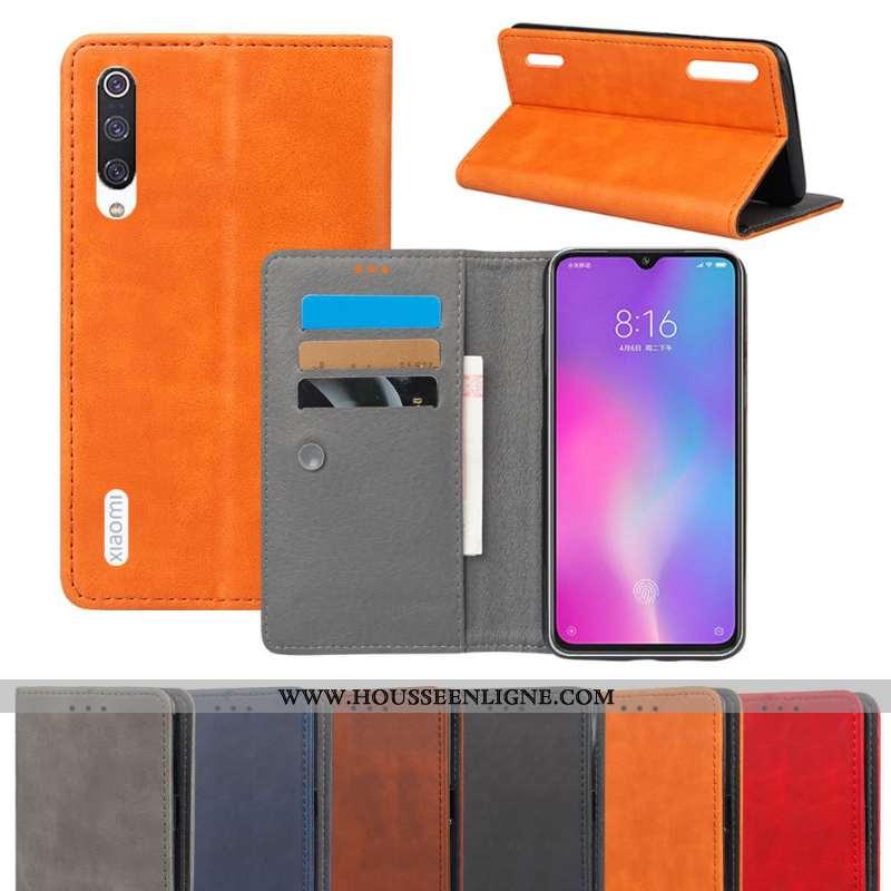 Coque Xiaomi Mi 9 Lite Protection Portefeuille Téléphone Portable Housse Petit Orange Tout Compris