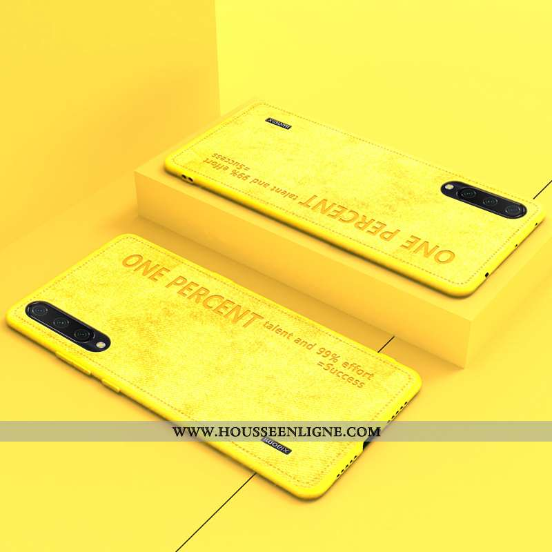 Coque Xiaomi Mi 9 Original Ultra Fluide Doux Simple Protection Nouveau Téléphone Portable Jaune