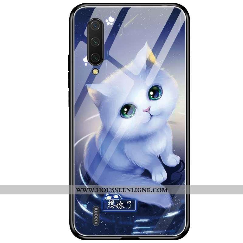 Coque Xiaomi Mi 9 Protection Verre Nouveau Téléphone Portable Silicone Personnalité Incassable Bleu