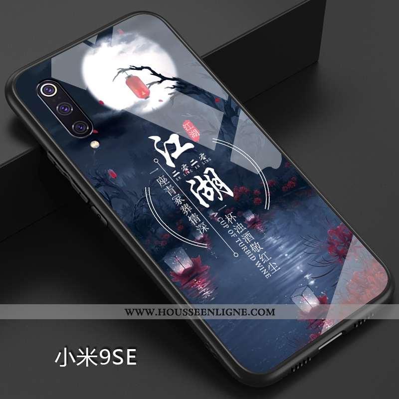 Coque Xiaomi Mi 9 Se Créatif Ultra Fluide Doux Étui Simple Net Rouge Personnalité Bleu