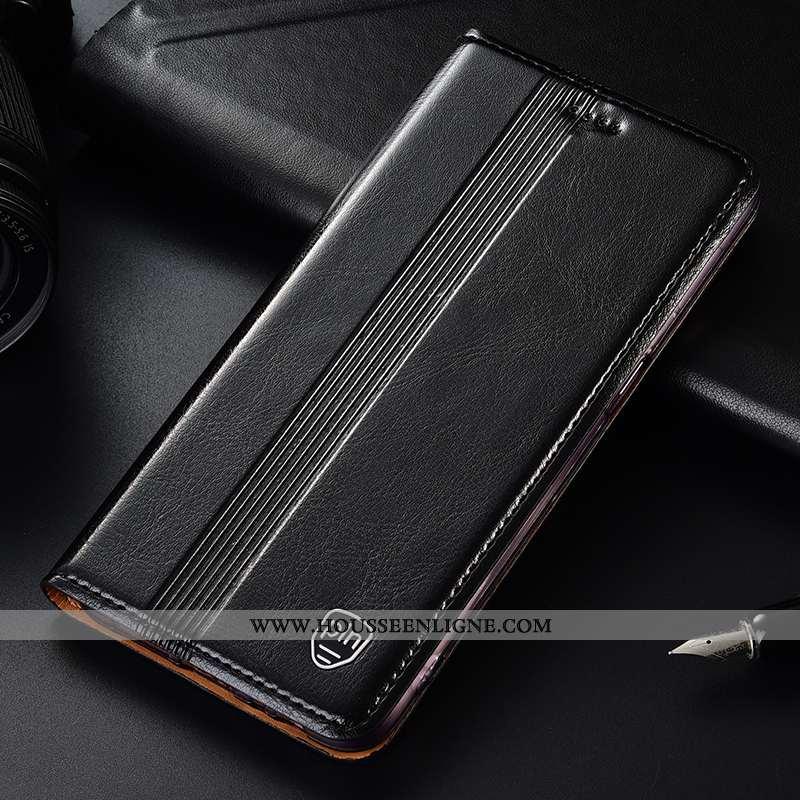 Coque Xiaomi Mi 9 Se Cuir Véritable Cuir Modèle Fleurie Jeunesse Clamshell Protection Noir