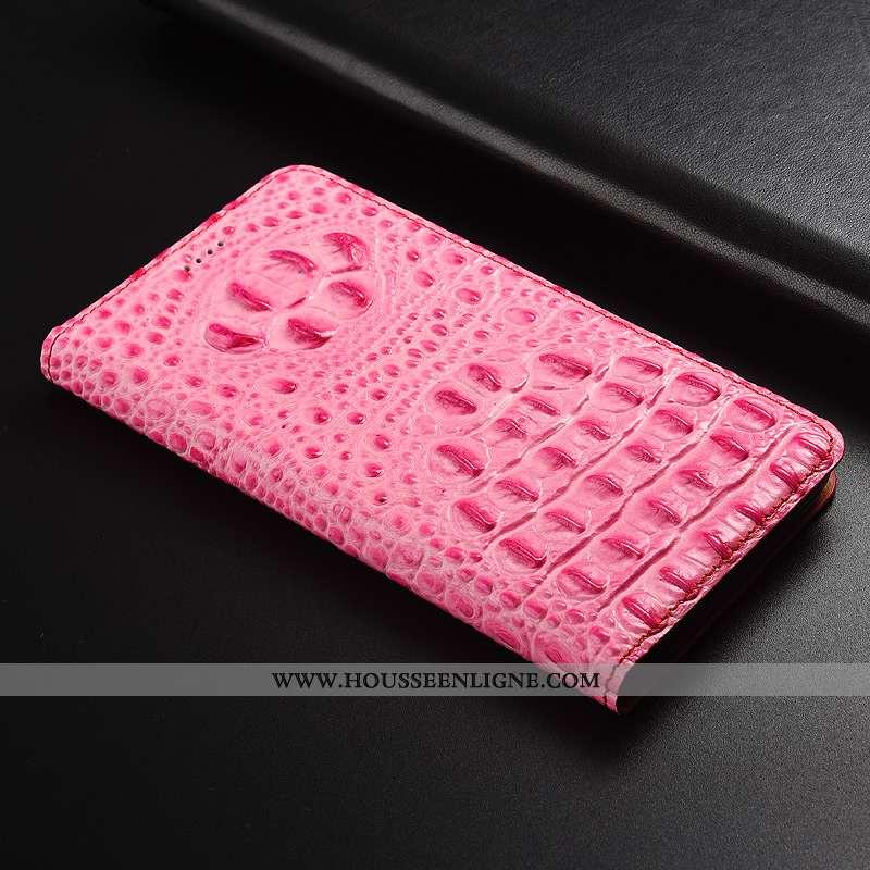 Coque Xiaomi Mi 9 Se Protection Cuir Véritable Rose Étui Téléphone Portable Modèle Fleurie