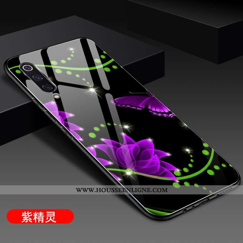 Coque Xiaomi Mi 9 Se Ultra Légère Fluide Doux Téléphone Portable Verre Nouveau Protection Violet
