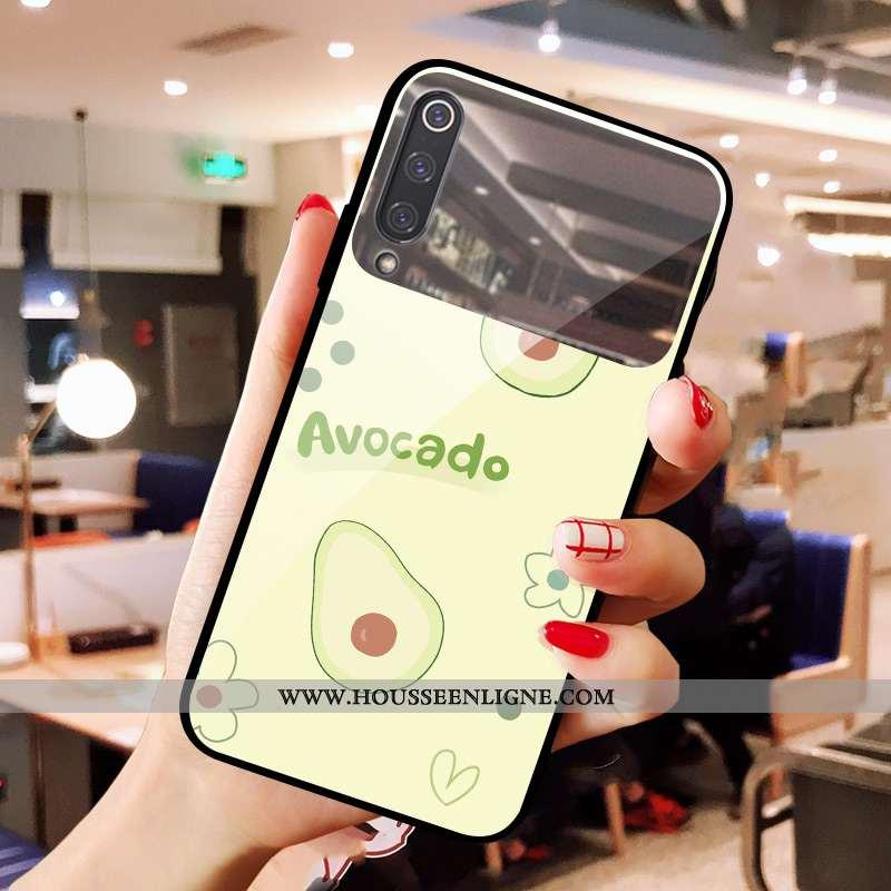 Coque Xiaomi Mi 9 Se Verre Petit Maquillage Cœur Difficile Téléphone Portable Rouge Verte