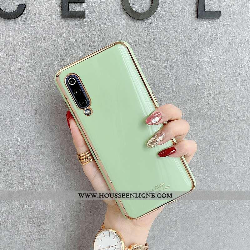 Coque Xiaomi Mi 9 Silicone Tendance Modèle Fleurie Gris Téléphone Portable Incassable Verte