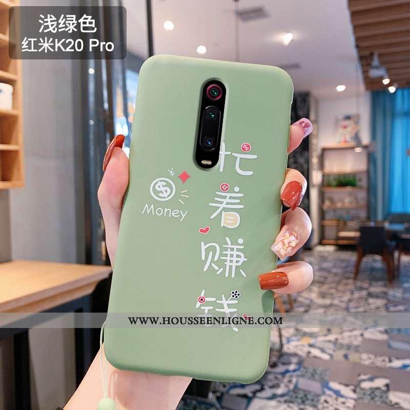 Coque Xiaomi Mi 9t Charmant Fluide Doux Rouge Amoureux Téléphone Portable Incassable Verte