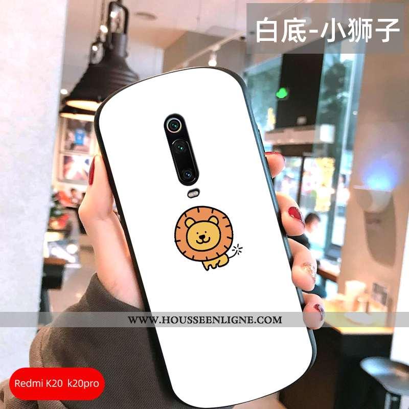 Coque Xiaomi Mi 9t Créatif Charmant Personnalité Simple Téléphone Portable Protection Blanche