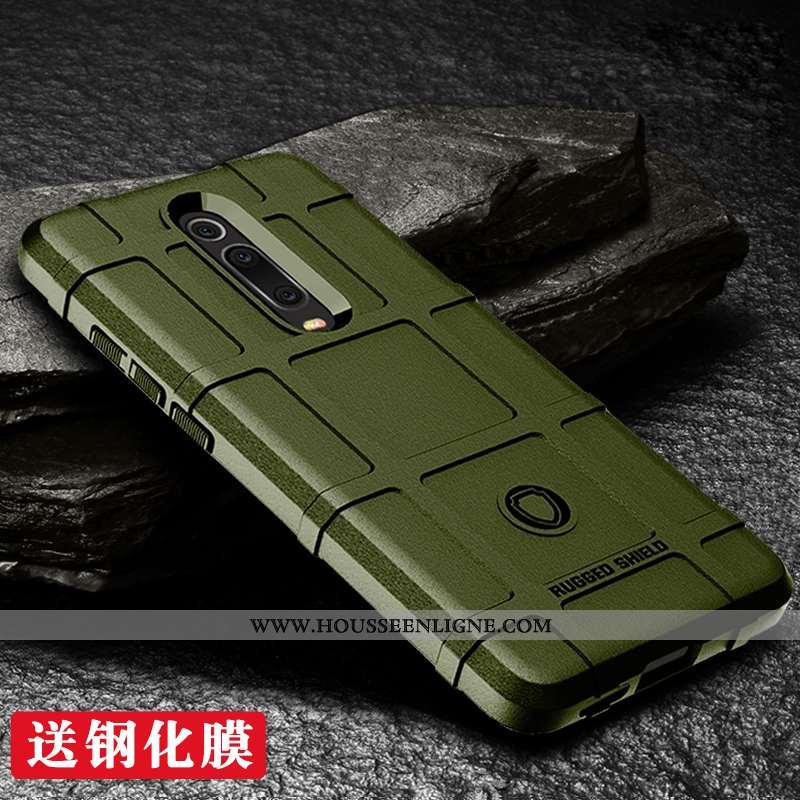 Coque Xiaomi Mi 9t Créatif Silicone Étui Rouge Mémorial Personnalité Vert Armée Verte