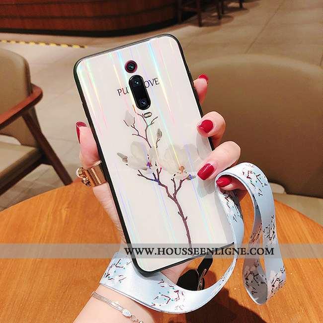 Coque Xiaomi Mi 9t Créatif Ultra Mode Tendance Téléphone Portable Petit Ornements Suspendus Blanche