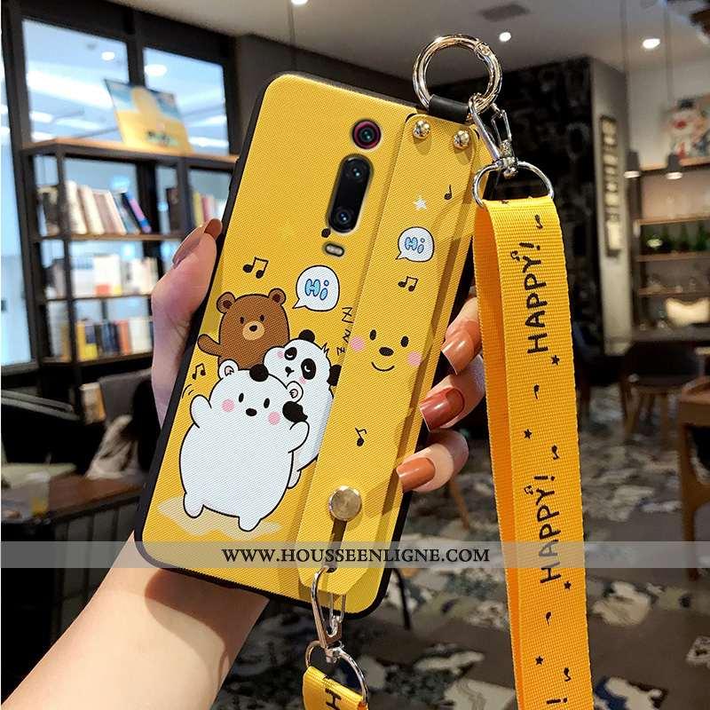 Coque Xiaomi Mi 9t Fluide Doux Silicone Téléphone Portable Incassable Protection Jaune