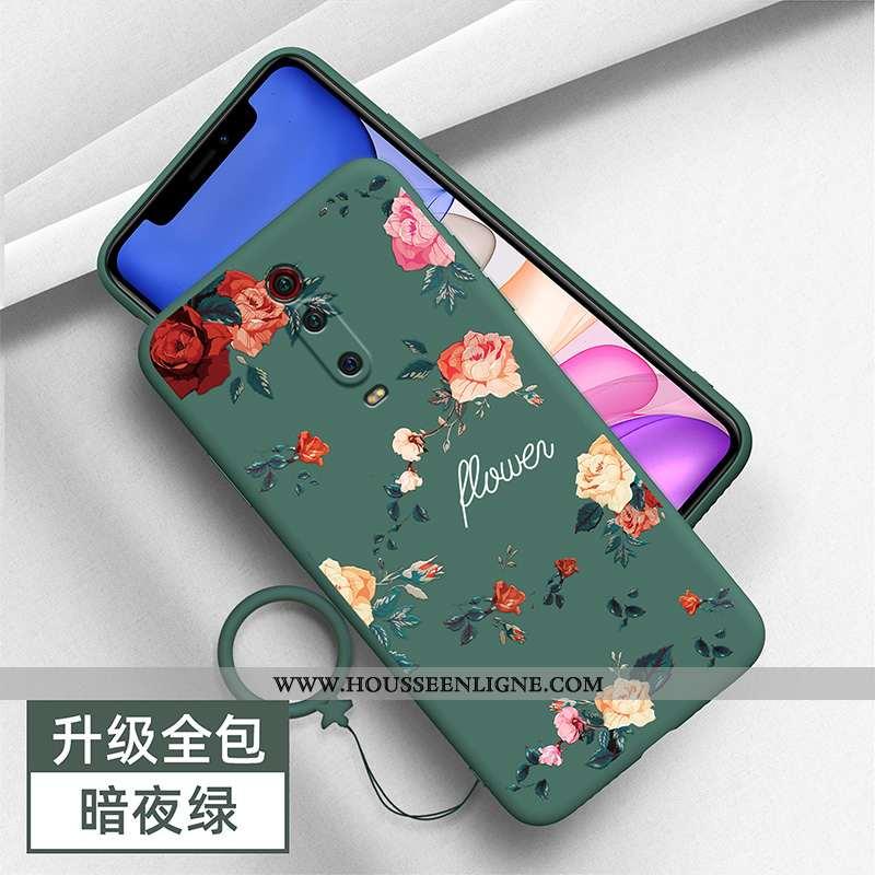 Coque Xiaomi Mi 9t Personnalité Créatif Vert Silicone Tendance Rouge Verte
