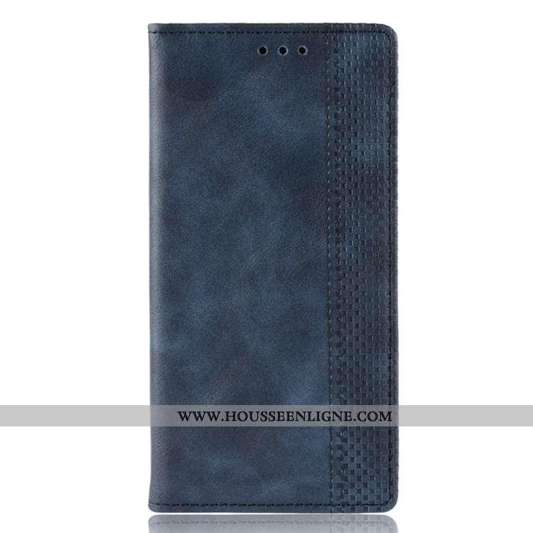 Coque Xiaomi Mi 9t Portefeuille Cuir Protection Bleu Marin Petit Étui Téléphone Portable Bleu Foncé