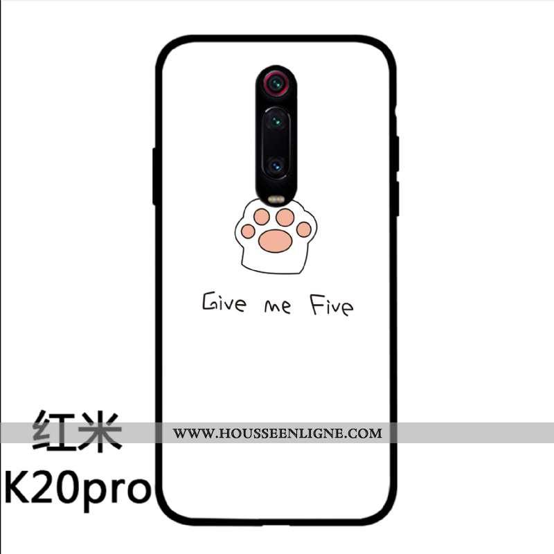 Coque Xiaomi Mi 9t Pro Charmant Silicone Téléphone Portable Verre Amoureux Étui Personnalité Blanche