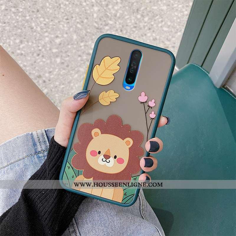 Coque Xiaomi Mi 9t Pro Fluide Doux Protection Dessin Animé Lion Difficile Net Rouge Charmant Bleu