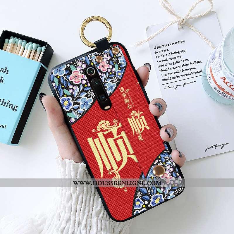 Coque Xiaomi Mi 9t Pro Fluide Doux Silicone Style Chinois Petit Rouge Mémorial