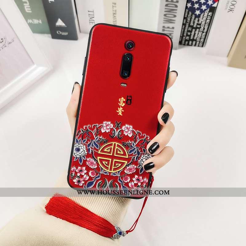 Coque Xiaomi Mi 9t Pro Imprimé Protection Tout Compris Personnalité Rouge Créatif