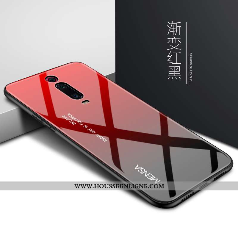 Coque Xiaomi Mi 9t Pro Protection Verre Petit Rouge Personnalité Mémorial