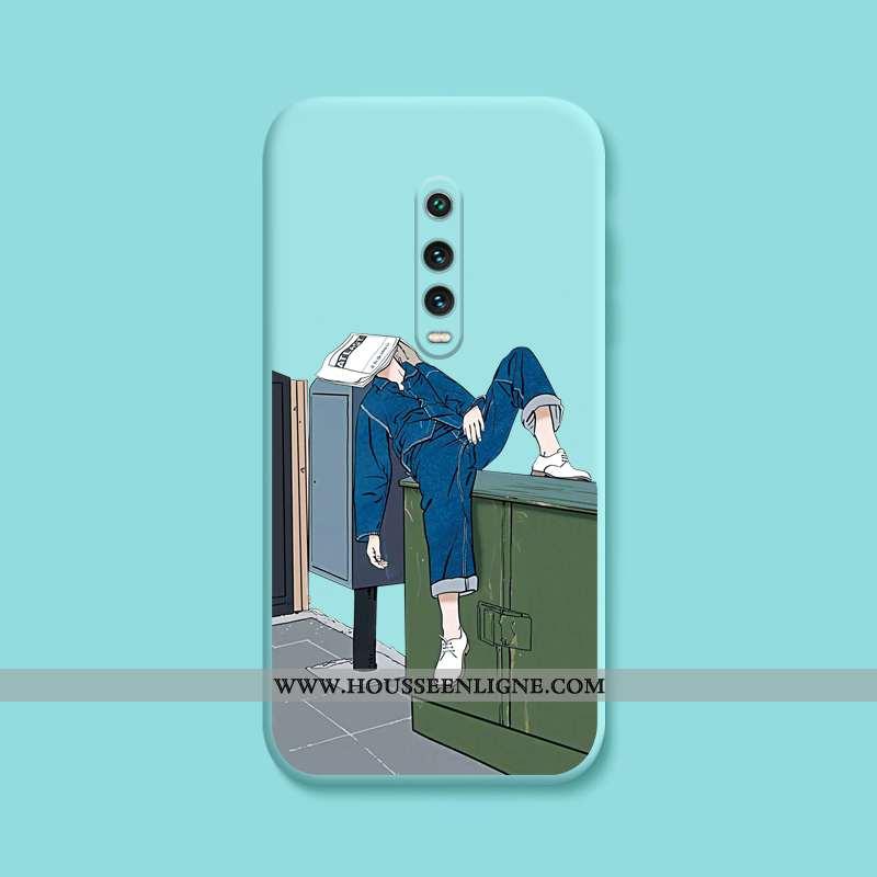 Coque Xiaomi Mi 9t Pro Tendance Fluide Doux Tout Compris Étui Dessin Animé Créatif Bleu