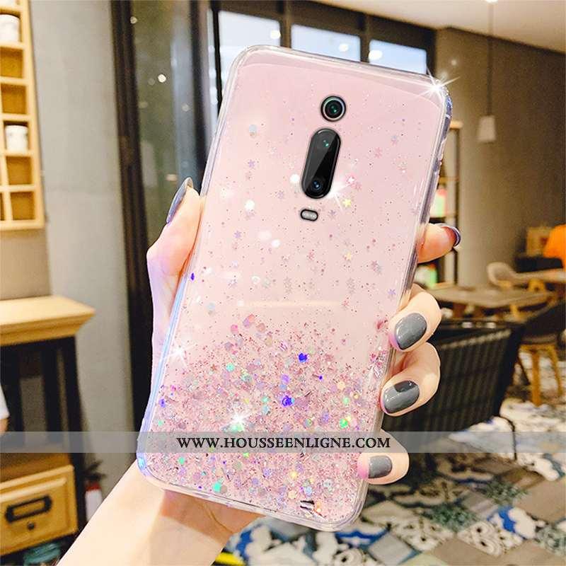 Coque Xiaomi Mi 9t Pro Transparent Personnalité Téléphone Portable Rose Protection Rouge Créatif