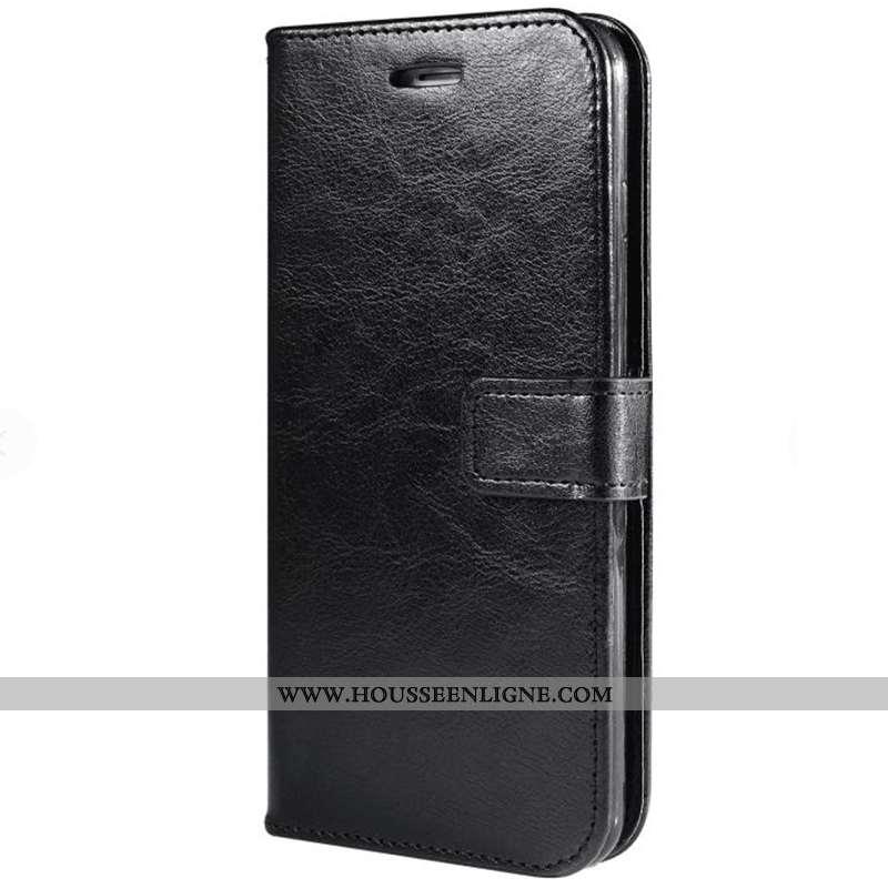 Coque Xiaomi Mi 9t Protection Cuir Noir Petit Rouge Téléphone Portable Housse